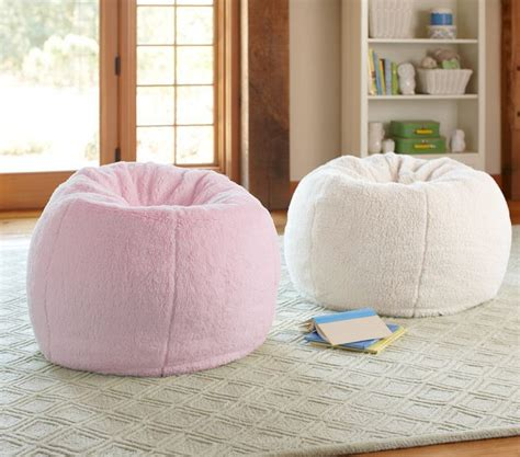 Fuzzy Potterybarn Bean Bag Chair